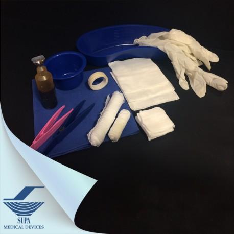 ست پانسمان با دستکش لاتکس سایز متوسط و رسیور - سوپا